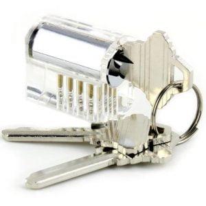 Oefenslot met drie sleutels