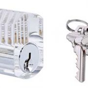Transparant Cilinderslot met sleutels