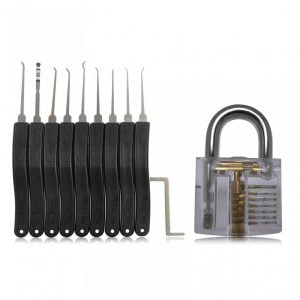 Lockpick set voor beginners met oefenslot