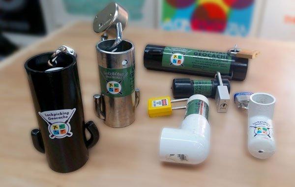 Speciale caches die gebruikt worden samen met lockpicking technieken