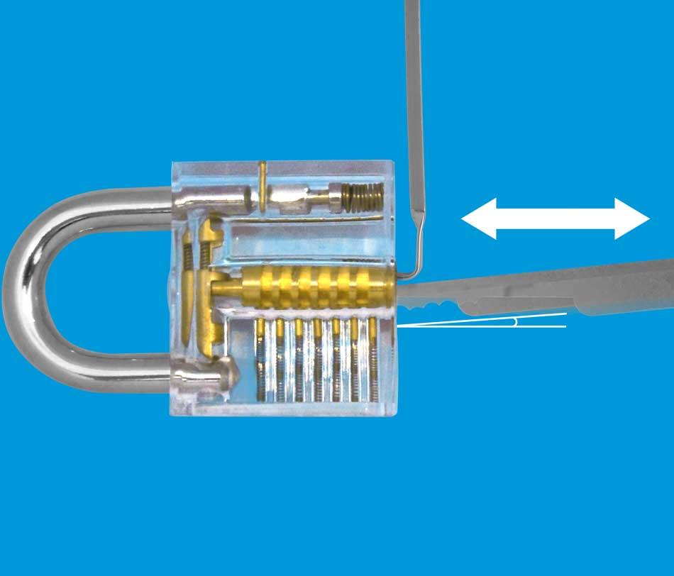 Rake lockpick techniek uitleg