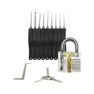 Lockpick set met oefenslot