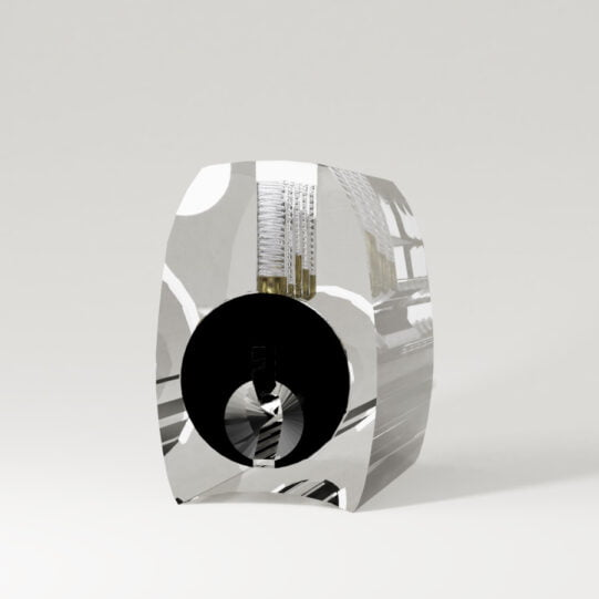 Transparant cilinderslot Serrated