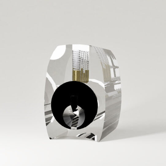 Transparant cilinderslot