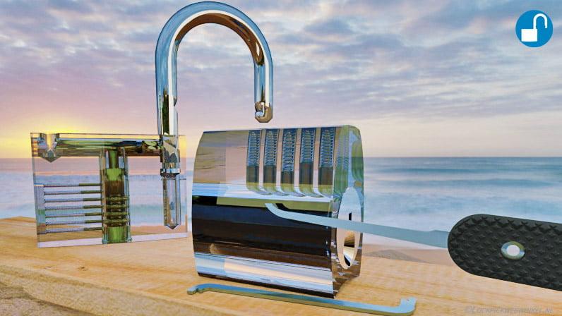 Transparant locks Lockpicking image