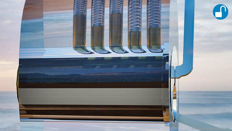 Pin 5 and 3 set transparant lock